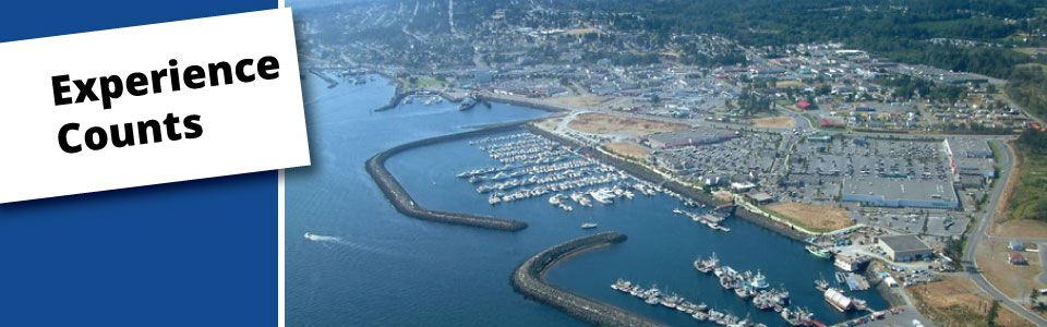 Areal view of Campbell River - Experience Counts