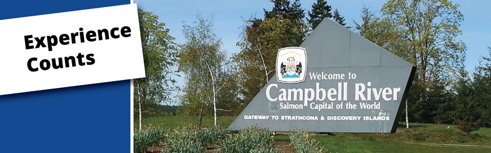 Welcome to Campbell River monument - Experience Counts